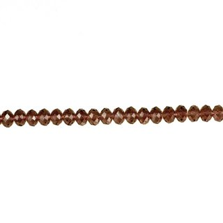 Strang facettierte Glasperlen, 10x6mm, 55cm, Rot