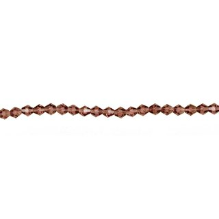 Strang facettierte Glasperlen, 4x4mm, 33cm, Rot